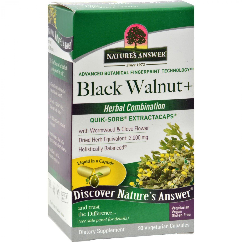 Nature's Answer Black Walnut and Wormwood - 90 Liquid Capsules