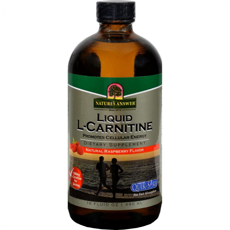 Nature's Answer Liquid L-Carnitine Natural Raspberry - 16 fl oz