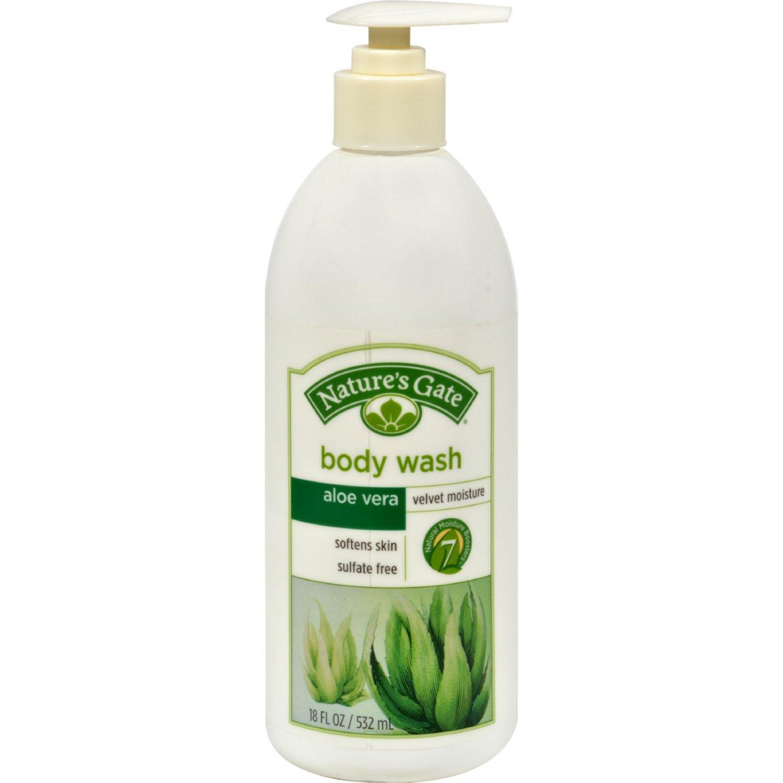 Nature's Gate Aloe Vera Velvet Moisture Body Wash - 18 fl oz