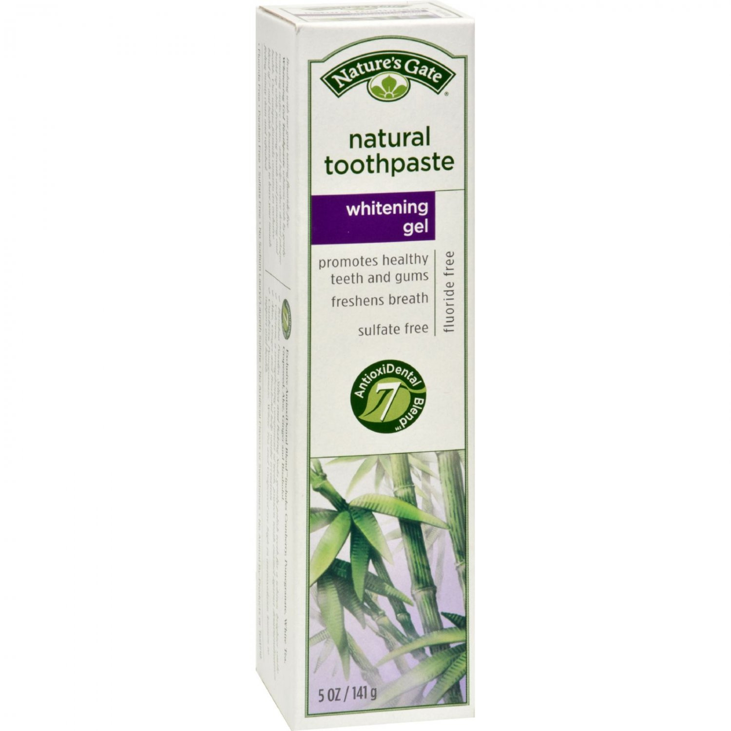 Nature's Gate Natural Toothpaste Gel Whitening - 5 oz - Case of 6