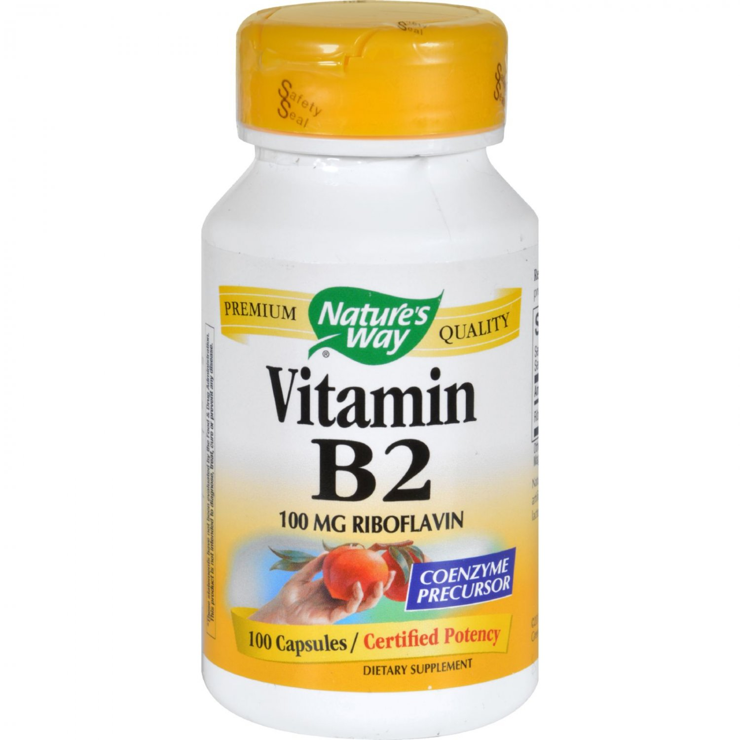 Nature's Way Vitamin B-2 - 100 mg - 100 Capsules