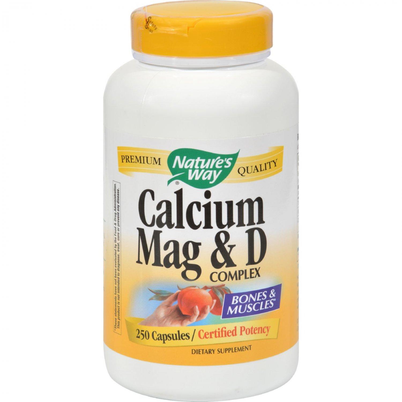 Nature's Way Calcium Mag and D Complex - 250 Capsules