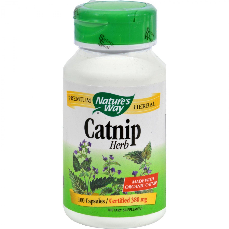 Nature's Way Organic Catnip Herb - 100 Capsules