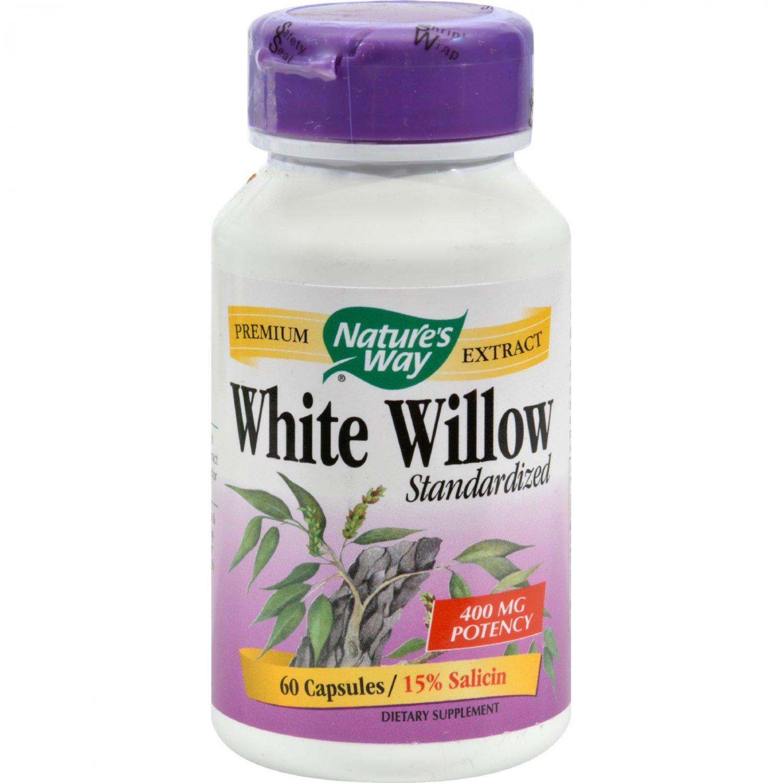 Nature's Way White Willow Bark - 300 mg - 60 Capsules