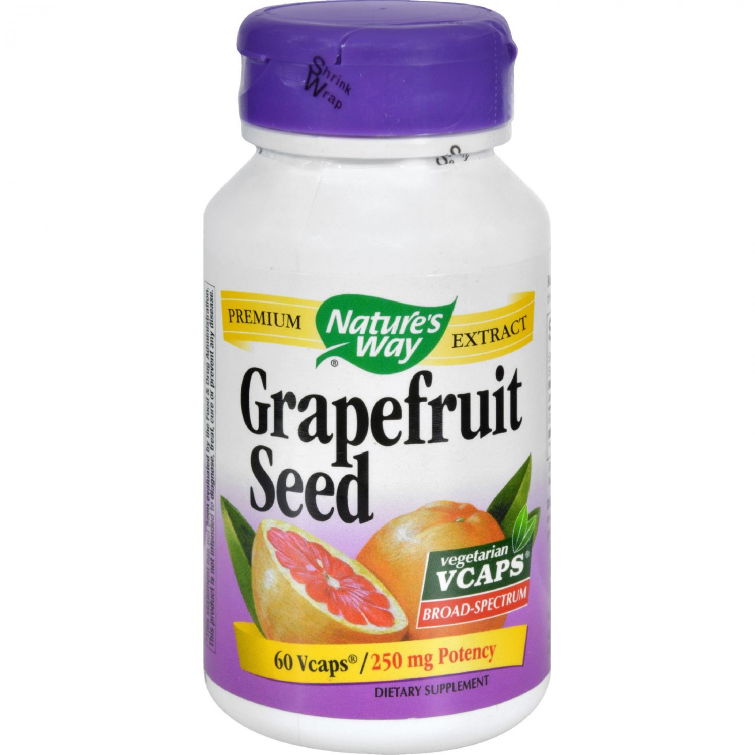 Nature's Way Grapefruit Seed Standardized - 60 Vegetarian Capsules