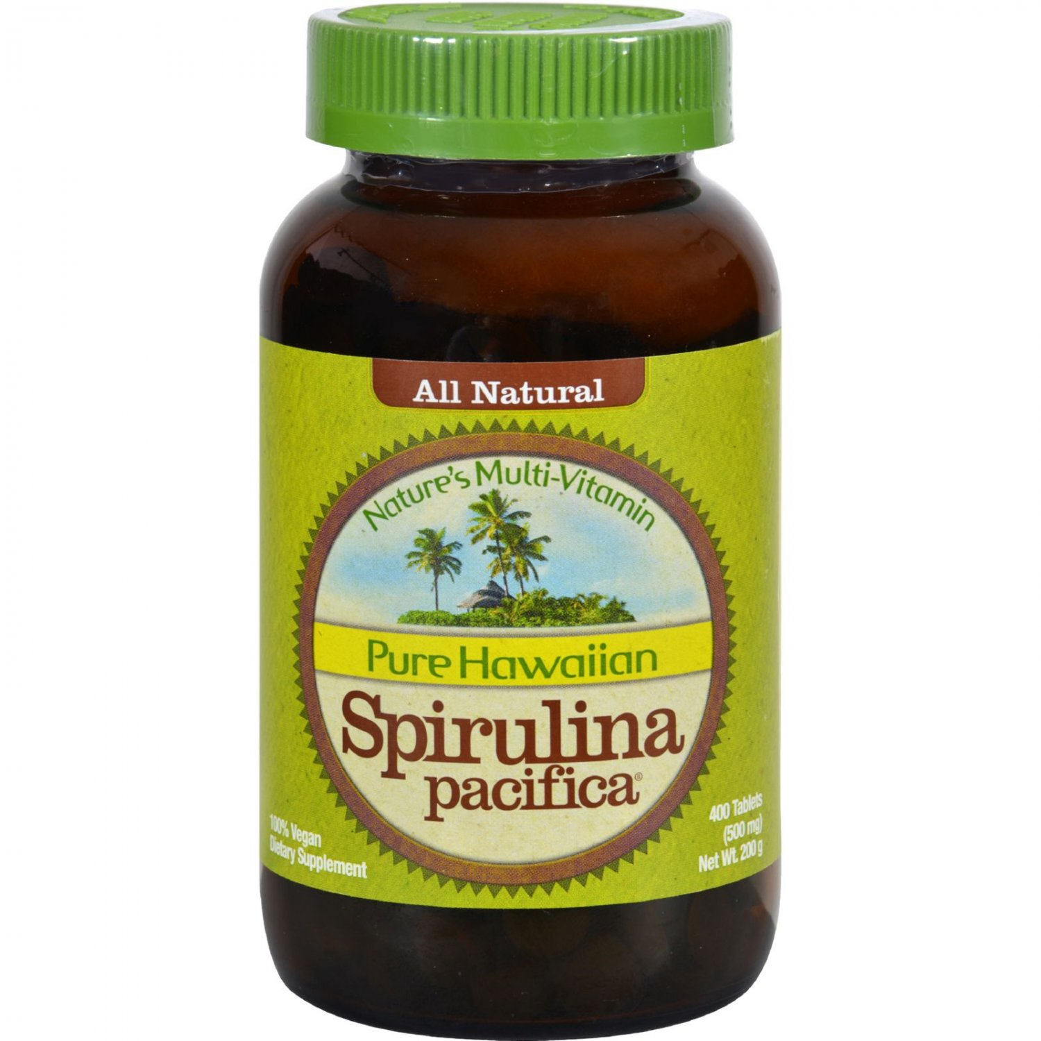 Nutrex Hawaii Pure Hawaiian Spirulina Pacifica - 500 mg - 400 Tablets