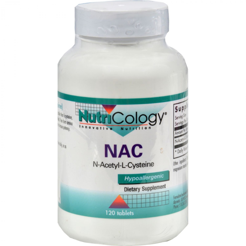 NutriCology NAC N-Acetyl-Cysteine - 500 mg - 120 Tablets