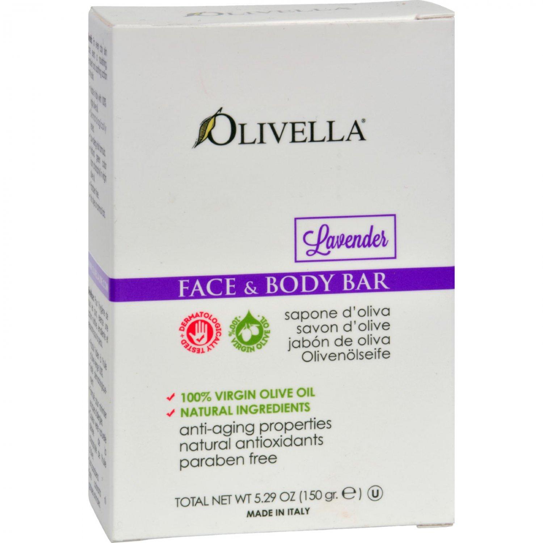 Olivella Face and Body Bar Soap Lavender - 5.29 oz