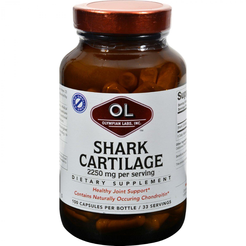 Olympian Labs Shark Cartilage - 750 mg - 100 Capsules