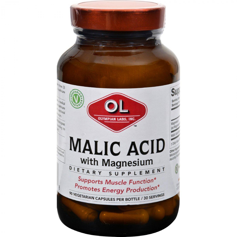 Olympian Labs Malic Acid with Magnesium - 90 Vegetarian Capsules