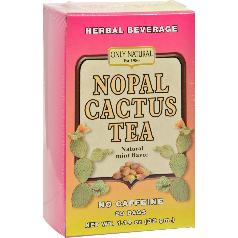 Only Natural Nopal Cactus Tea Caffeine Free Natural Mint - 20 Tea Bags