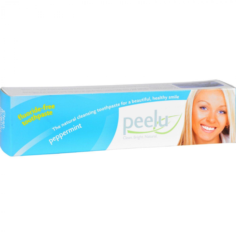 Peelu Toothpaste - Fluoride Free - Peppermint - 7 oz