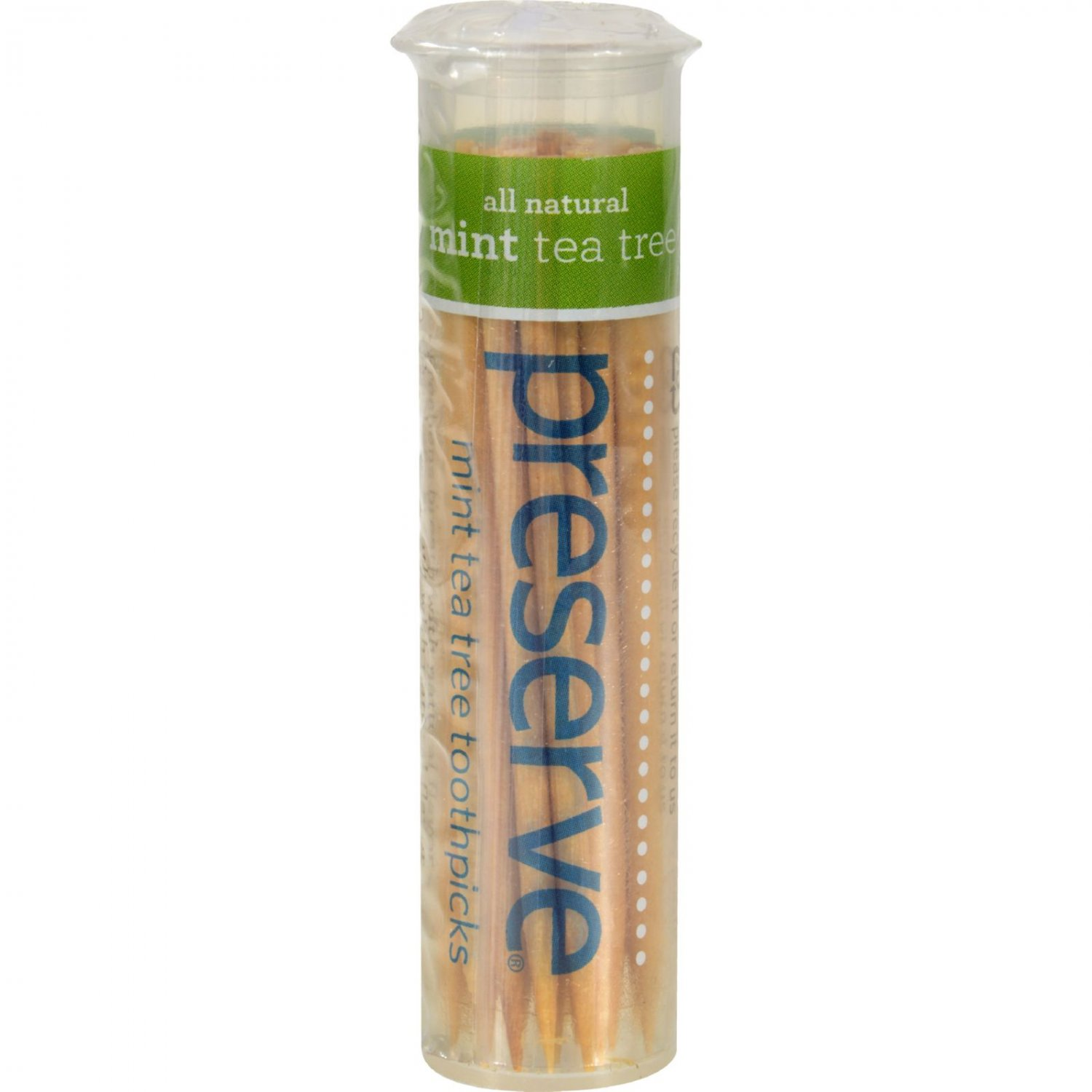 Preserve Flavored Toothpicks Mint Tea Tree - 35 Pieces - Case of 24