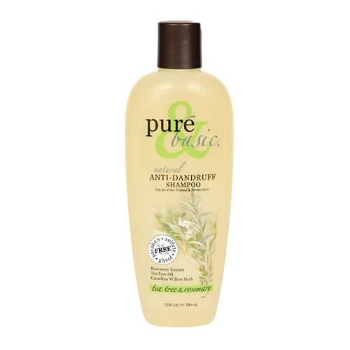 Pure and Basic Anti-Dandruff Natural Shampoo Tea Tree And Rosemary - 12 fl oz