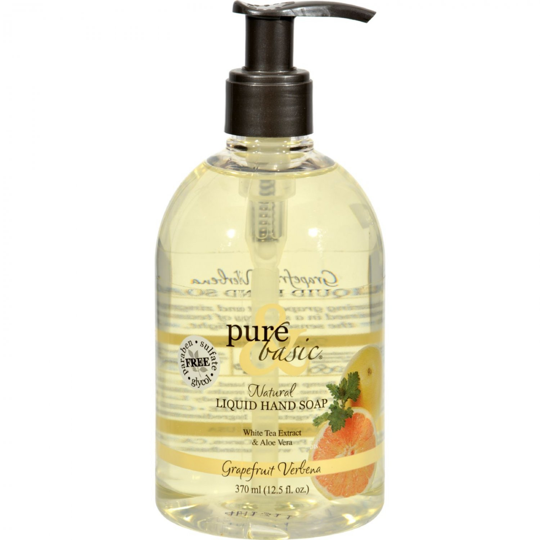 Pure and Basic Natural Liquid Hand Soap Grapefruit Verbena - 12.5 fl oz