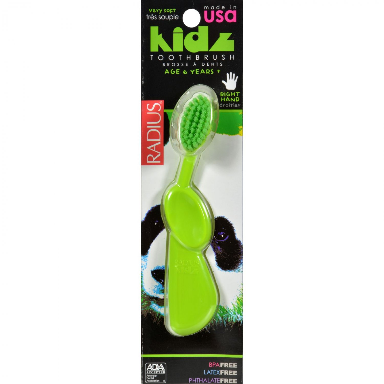 Radius Kidz Toothbrush (Soft Bristles) - 1 Toothbrush - Case of 6