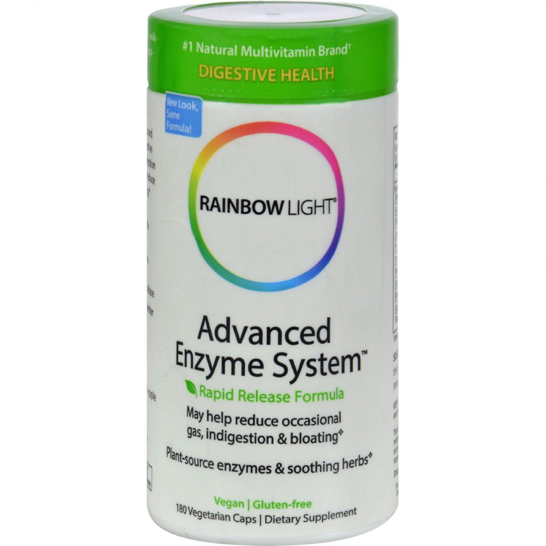 Rainbow Light Advanced Enzyme System - 180 Vegetarian Capsules