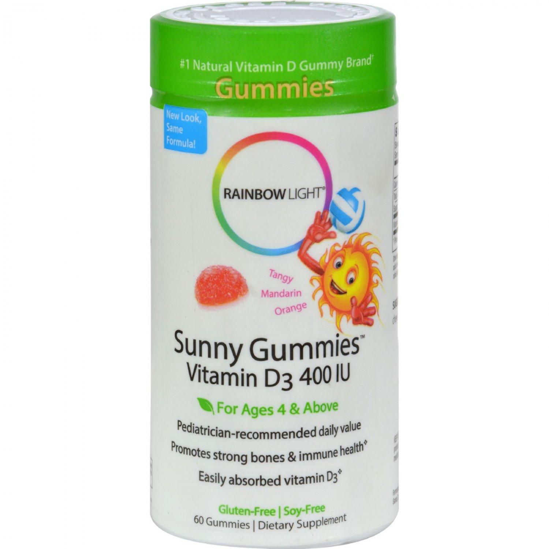Rainbow Light Vitamin D3 Sunny Gummies Tangy Orange - 400 IU - 60 Gummies
