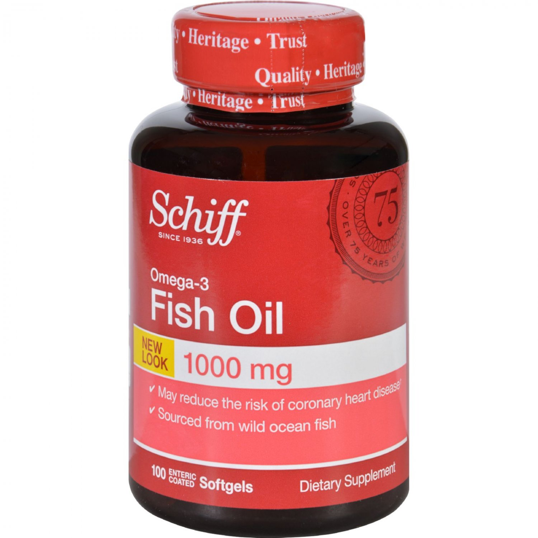 Schiff Omega-3 Fish Oil - 100 Softgels Enteric Coated