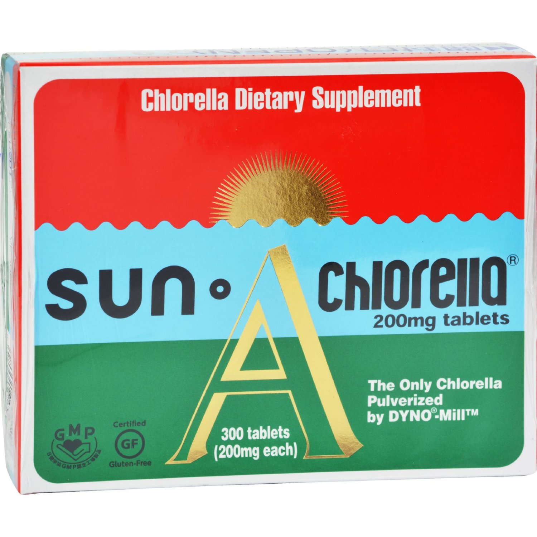 Sun Chlorella A Tablets - 200 mg - 300 Tablets