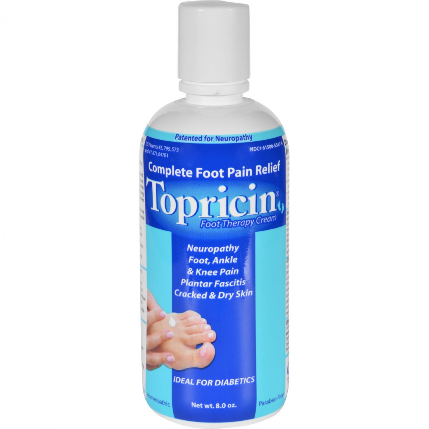 Topricin Foot Therapy Cream - 8 oz