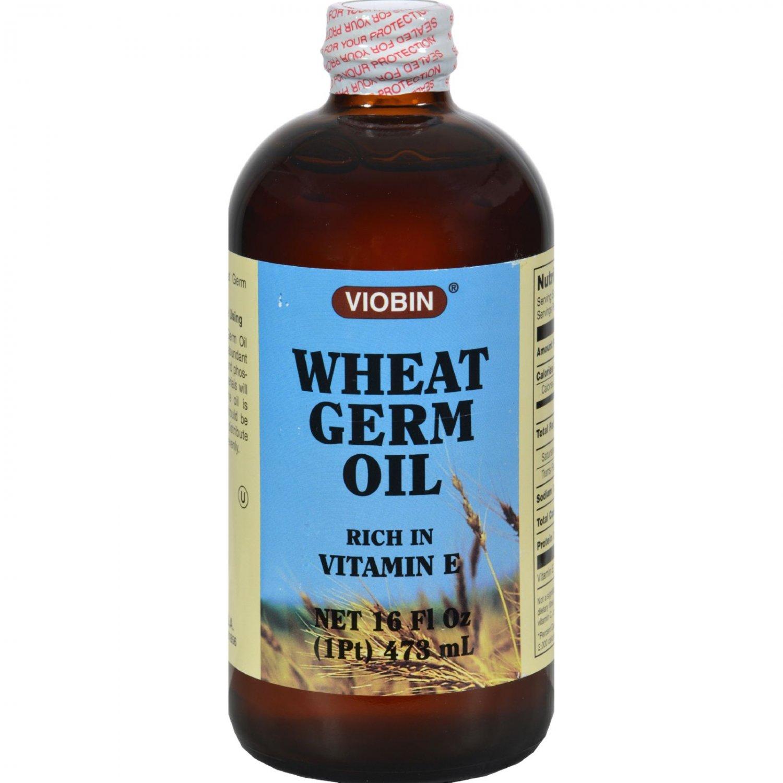 Viobin Wheat Germ Oil Liquid Rich in Vitamin E - 16 fl oz