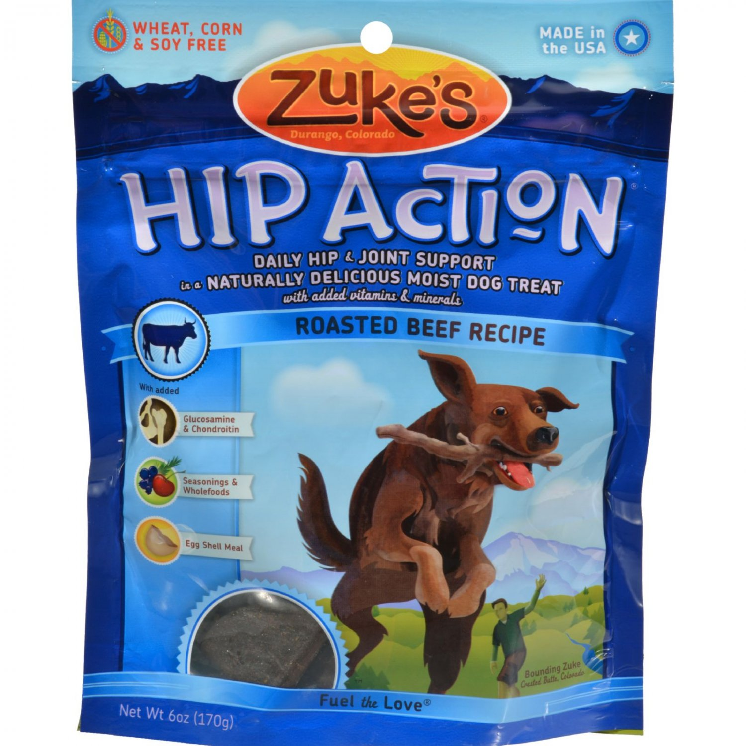 Zuke's Hip Action Dog Treats Beef - 6 oz