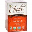 Choice Organic Teas Black Tea Masala Chai - Case of 6 - 16 Bags