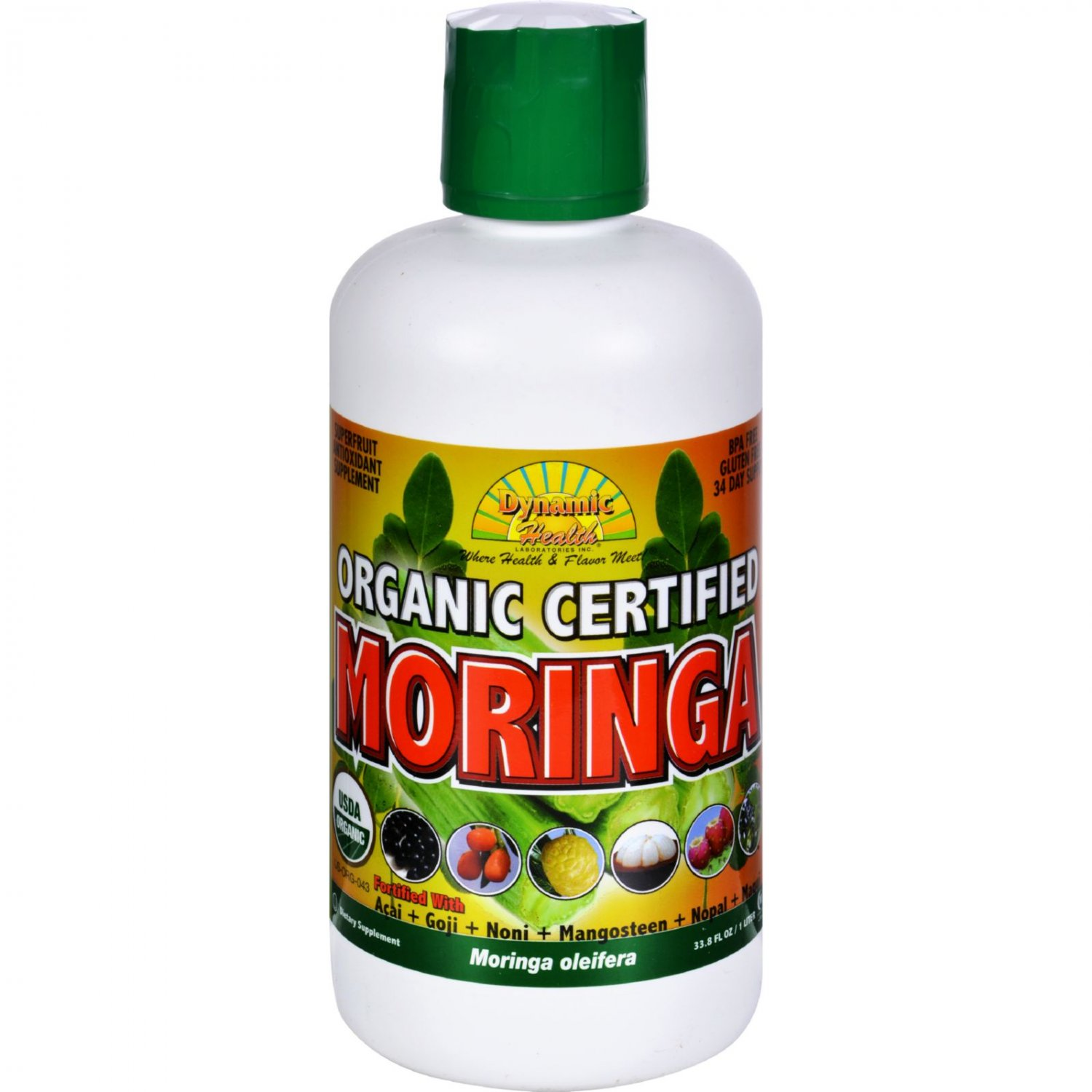 Dynamic Health Juice - Organic Moringa - 33.8 fl oz