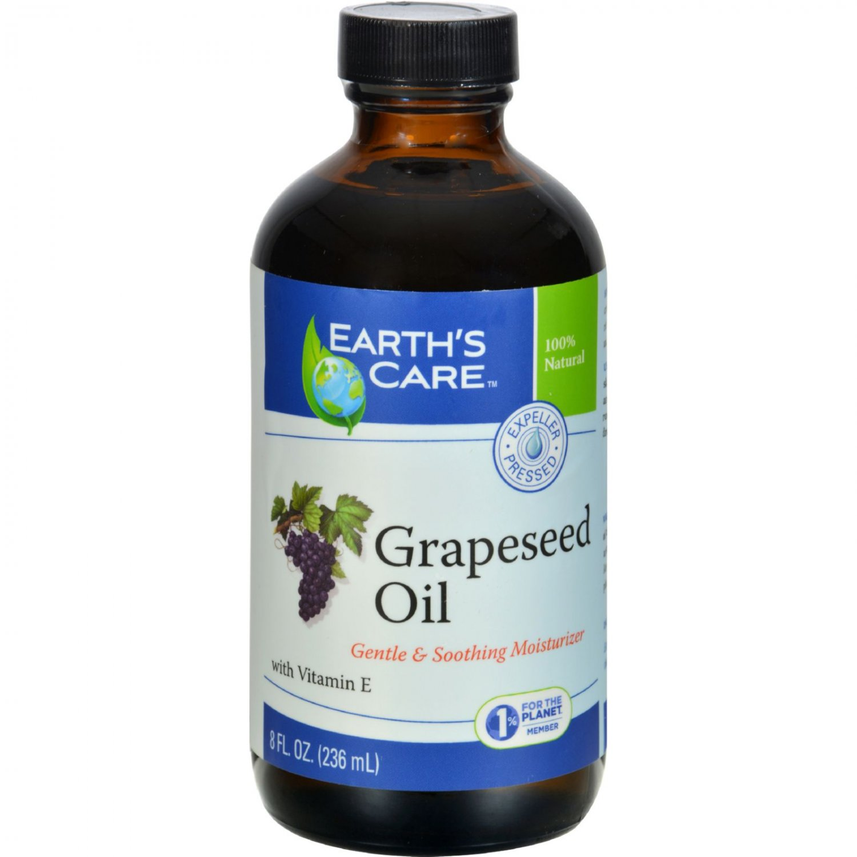 Earth's Care 100% Pure Grapeseed Oil - 8 fl oz