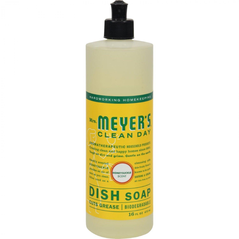 Mrs. Meyer's Liquid Dish Soap - Honeysuckle - Case of 6 - 16 oz