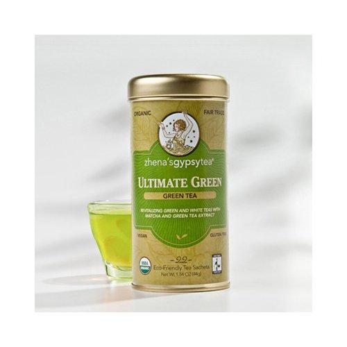Zhena's Gypsy Tea Ultimate Organic Green Tea - Case of 6 - 22 Bags