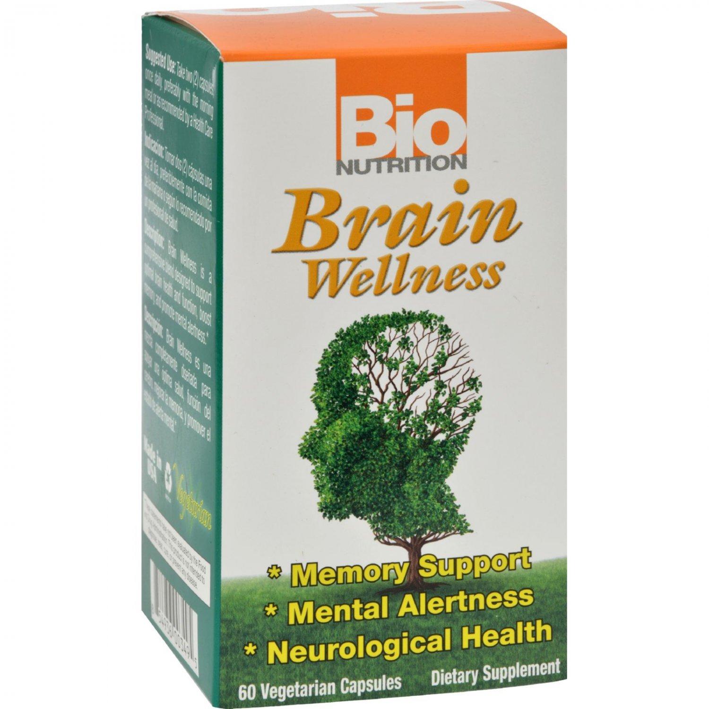 Bio Nutrition Brain Wellness - 60 Vegetarian Capsules