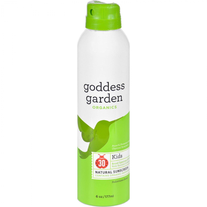 Goddess Garden Organic Sunscreen - Sunny Kids Natural SPF 30 Continuous Spray - 6 oz