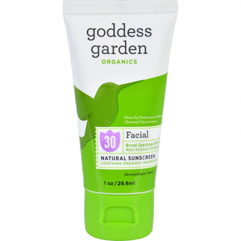 Goddess Garden Organic Sunscreen Counter Display - Facial - 1 oz - Case of 20