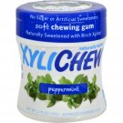 XyliChew Chewing Gum - Sugar Free Peppermint - 60 Piece Jar - Case of 4