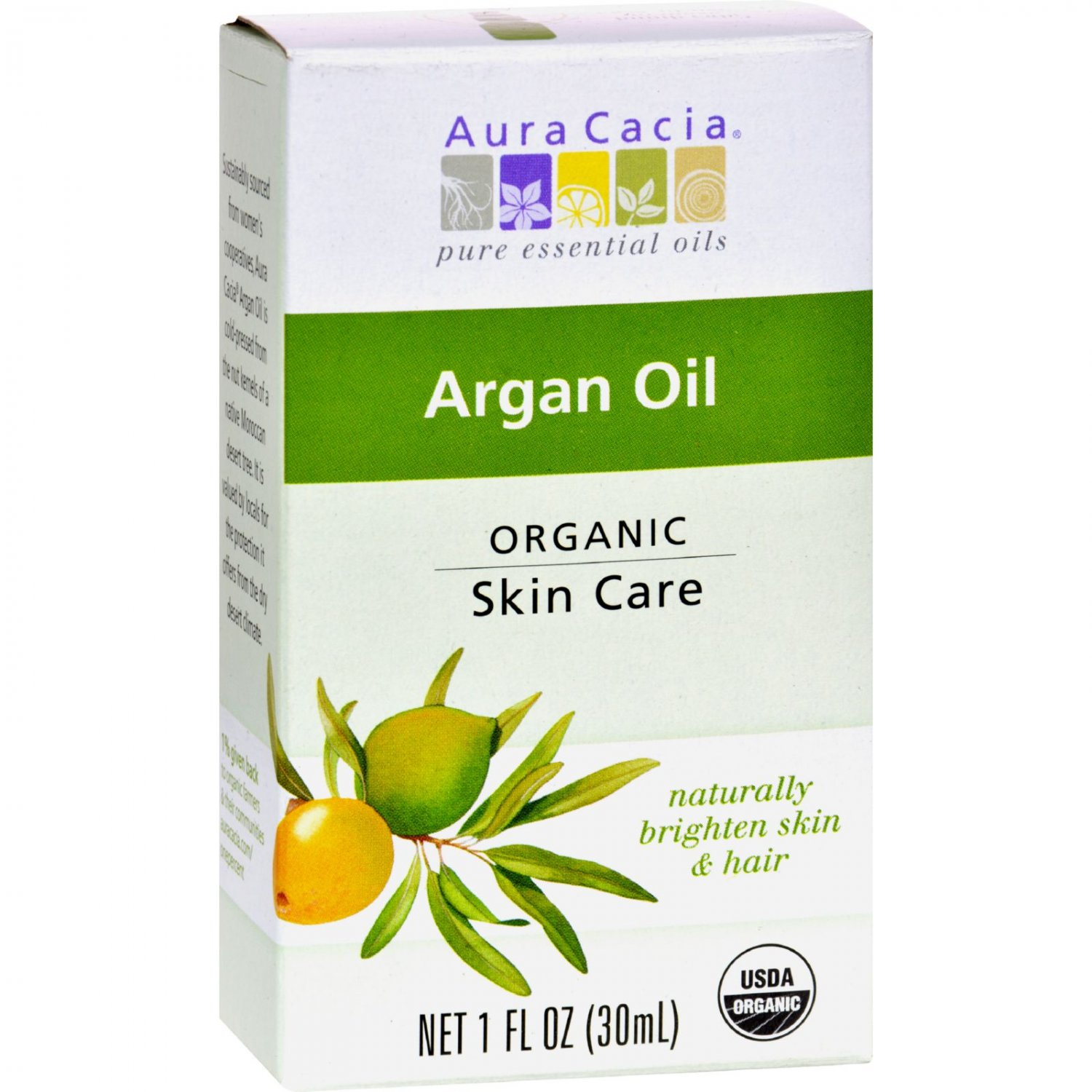 Aura Cacia Skin Care Oil - Organic - Argan Oil - 1 fl oz
