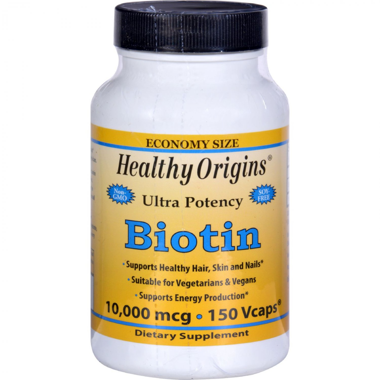 Healthy Origins Biotin - 10,000 mcg - 150 Vcaps