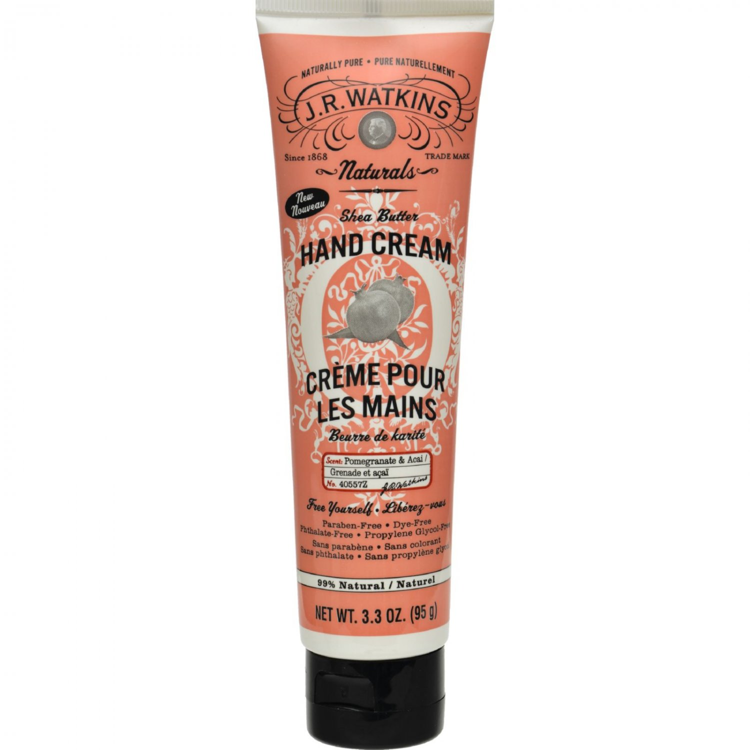 J.R. Watkins Hand Cream - Pomegranate and Acai - 3.3 oz