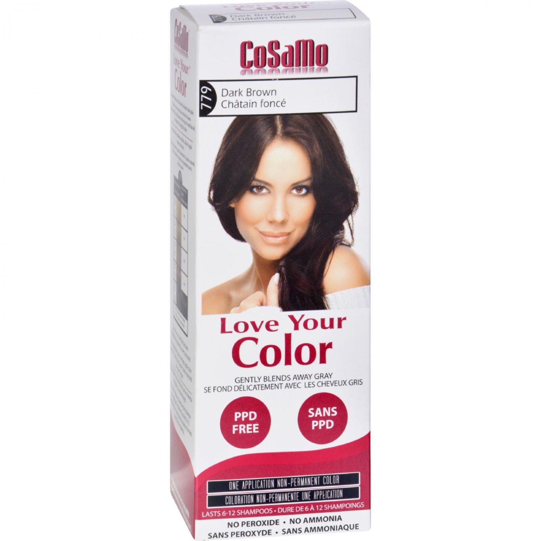 Love Your Color Hair Color - CoSaMo - Non Permanent - Dark Brown - 1 Count
