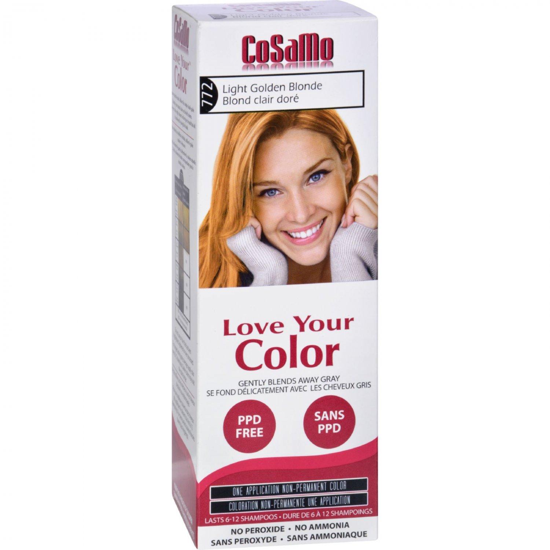 Love Your Color Hair Color - CoSaMo - Non Permanent - Lt Gold Blonde - 1 ct
