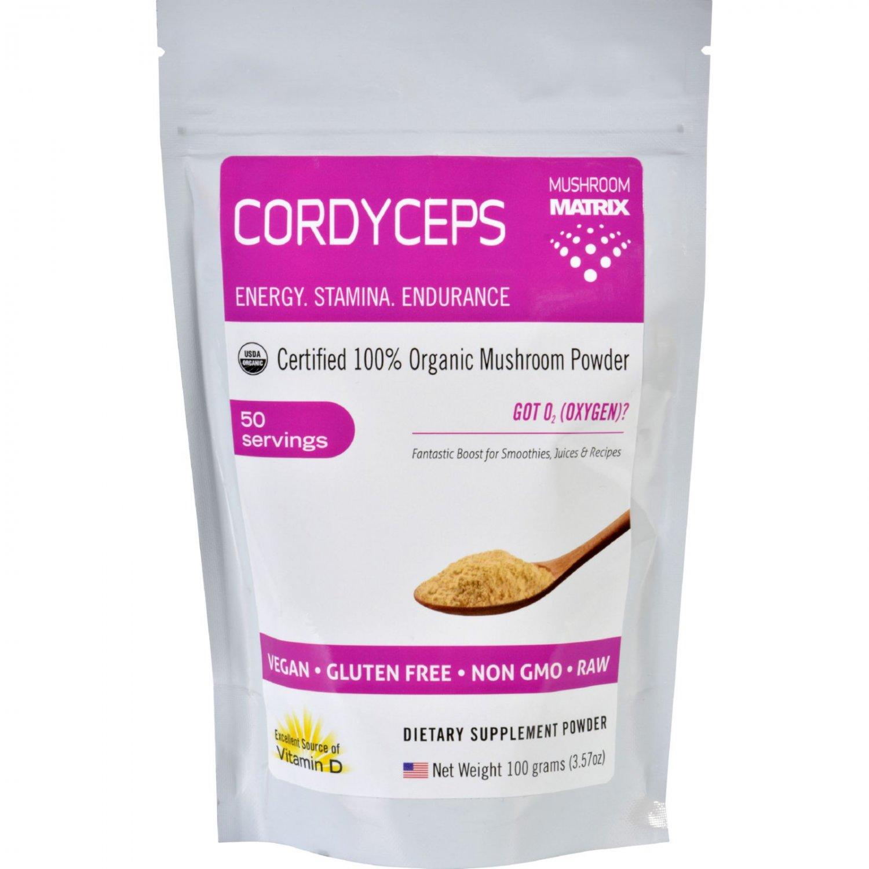 Mushroom Matrix Cordyceps Militaris - Organic - Powder - 3.57 oz