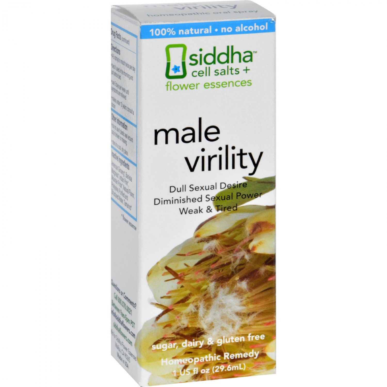 Siddha Flower Essences Male Virility - 1 fl oz