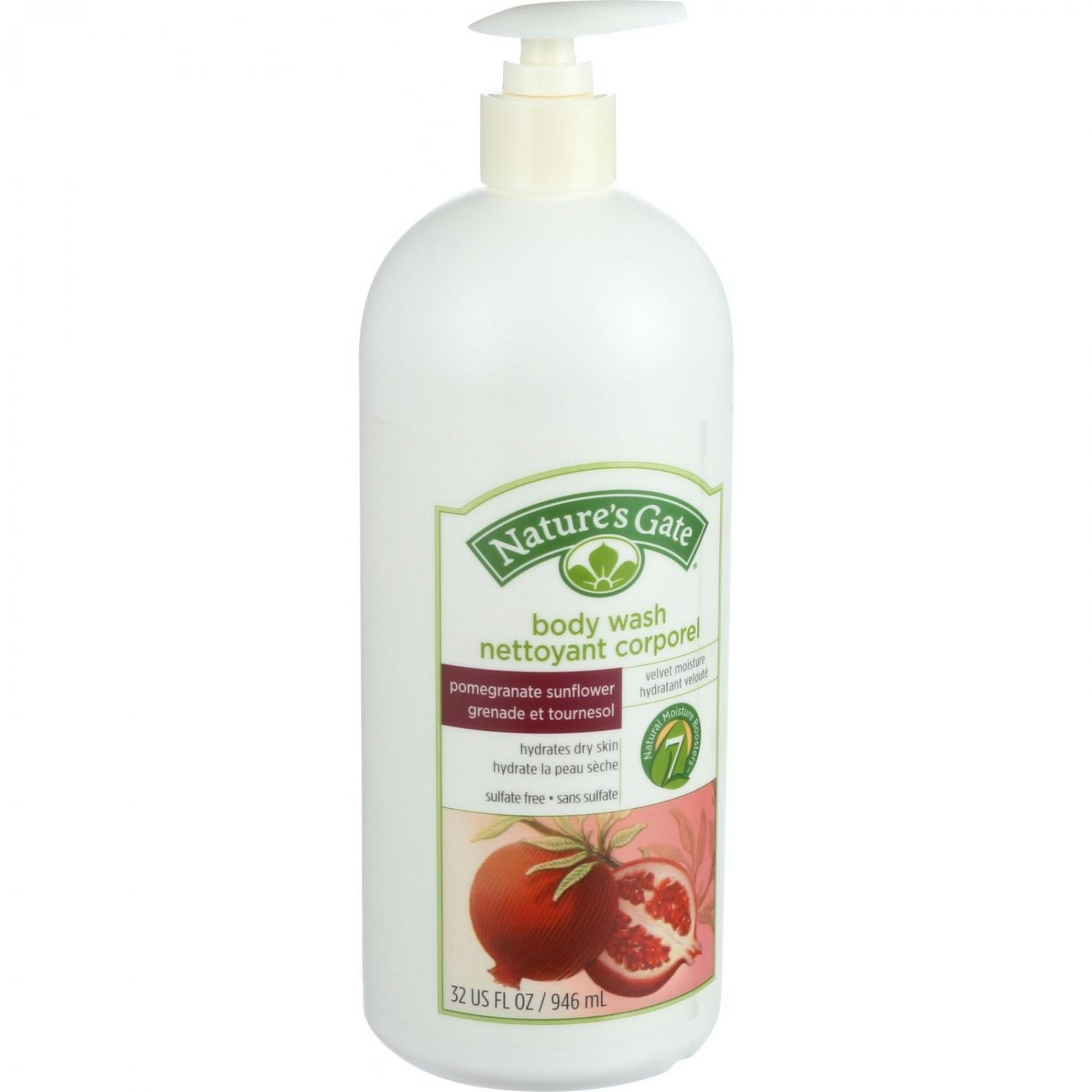 Nature's Gate Body Wash - Pomegranate Sunflower - 32 oz