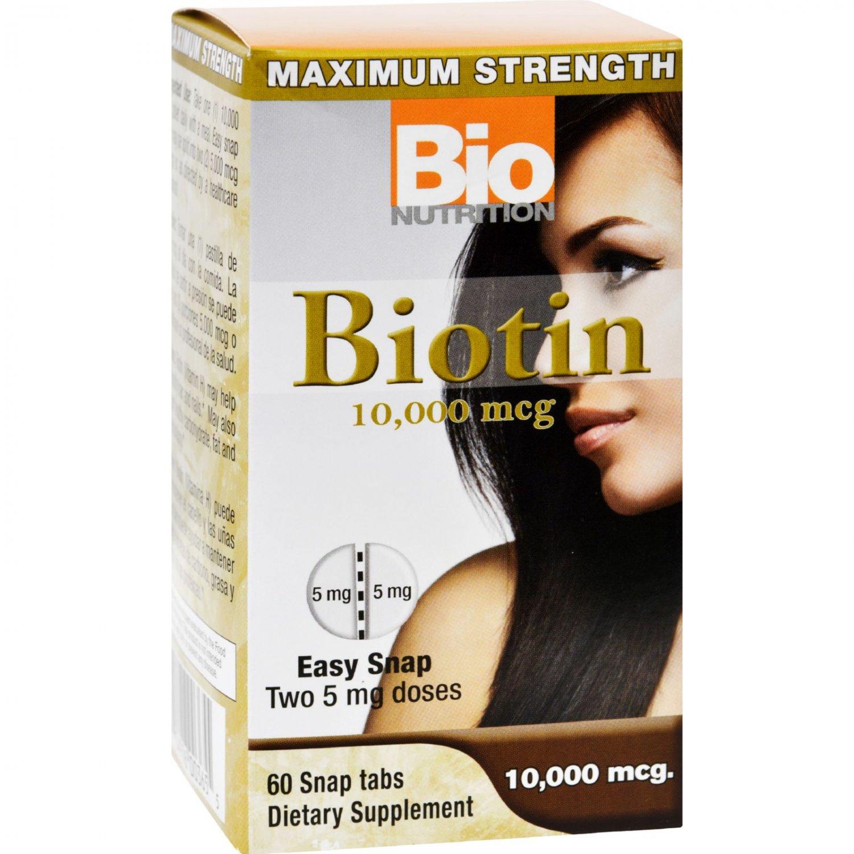 Bio Nutrition Inc Biotin - 10000 mcg - 60 Tablets