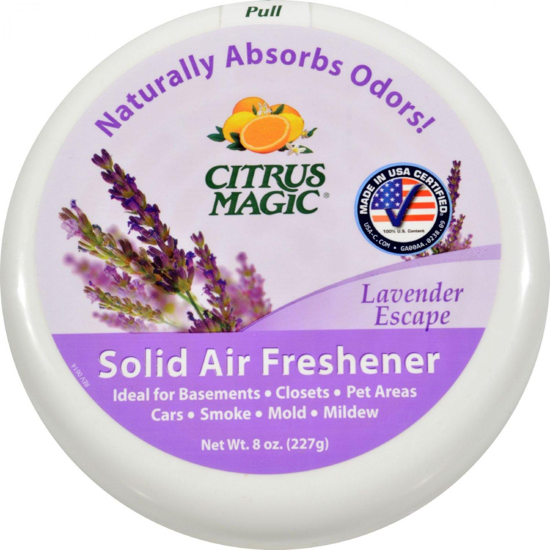 Citrus Magic Air Freshener - Odor Absorbing - Solid - Lavender - 8 oz (Pack of 3)