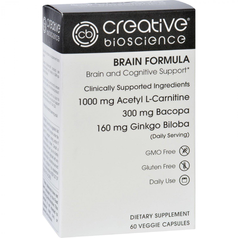 Creative Bioscience Brain Formula - 60 Vegetarian Capsules