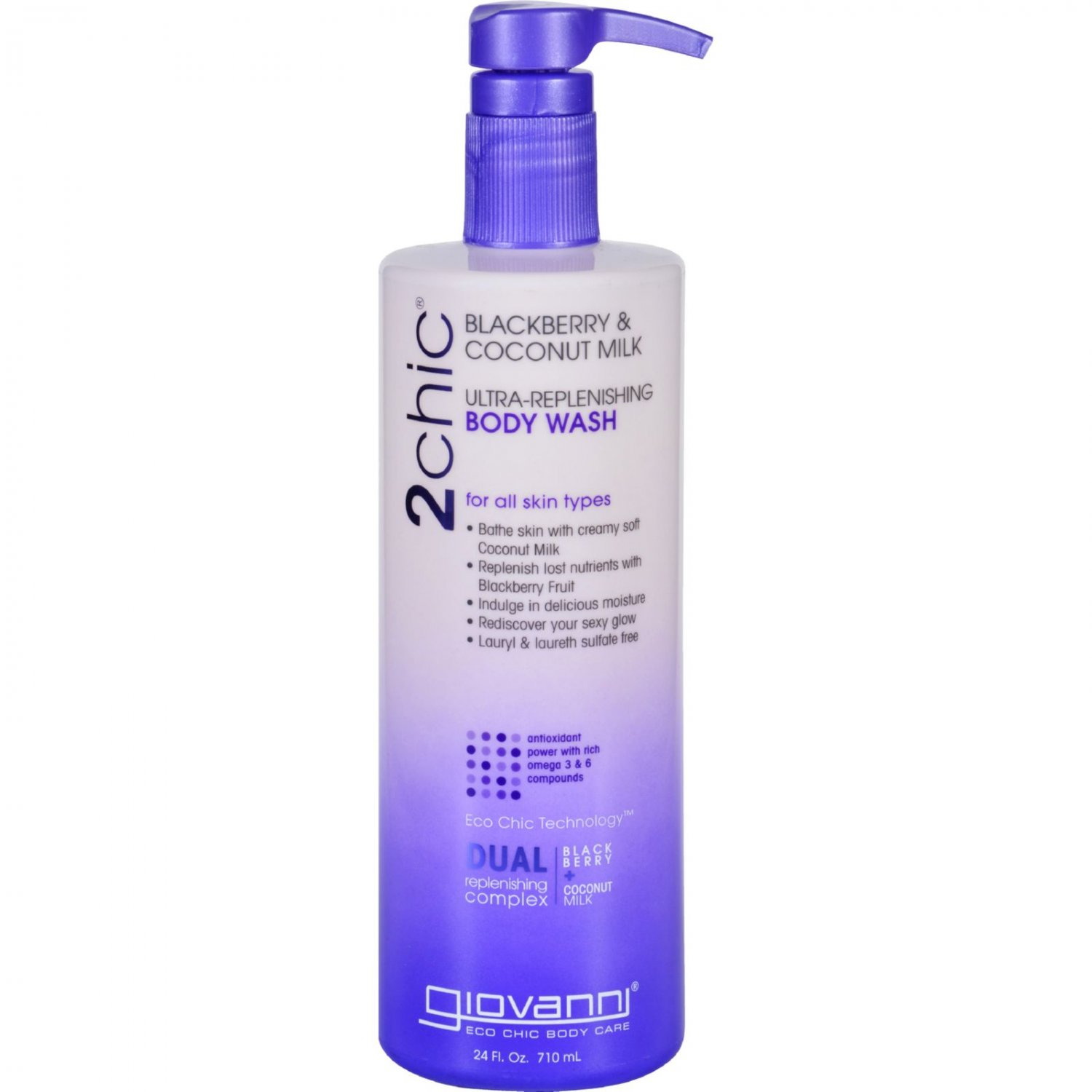 Giovanni Hair Care Products Body Wash - 2chic - Repairing - Ultra-Replenishing - Blackberry and Coco