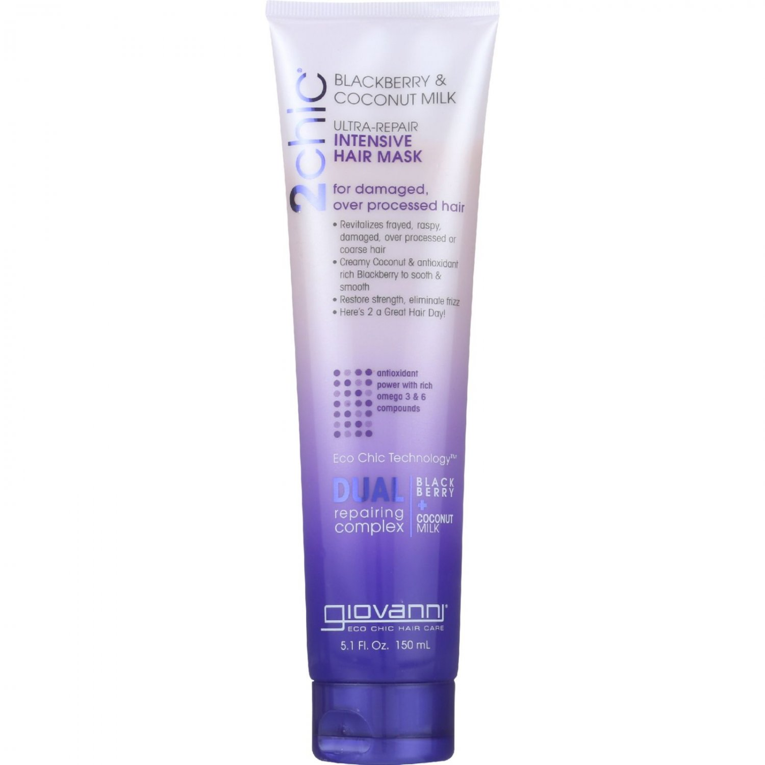 Giovanni Hair Care Products Hair Mask - 2Chic - Repairing Intensive - Blackberry and Coconut Milk -