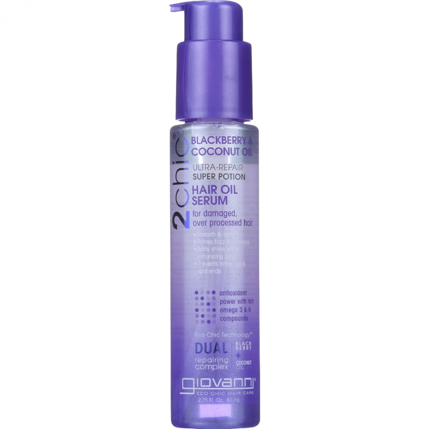 Giovanni Hair Care Products Hair Oil Serum - 2Chic - Repairing Super Potion - Blackberry and Coconut